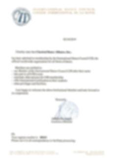 CDA UNESCO CID Membership Acceptance Let