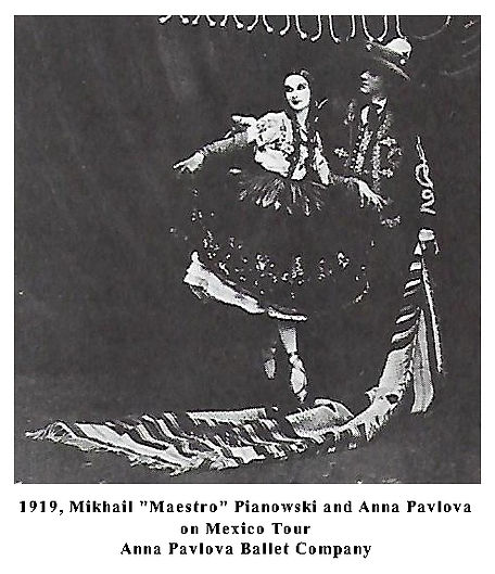 Mikhail Pianowski and Anna Pavlova, Mexi