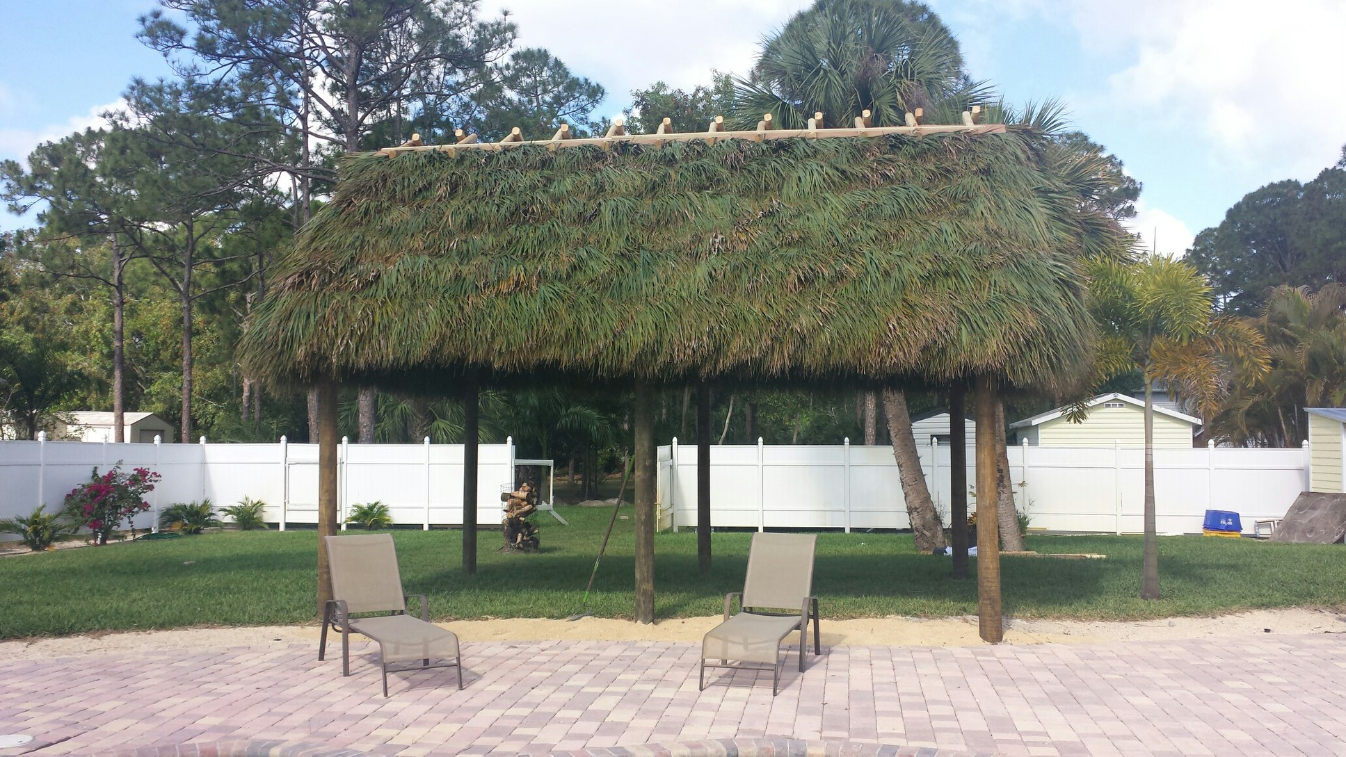 Residental Back Yard Tiki Hut