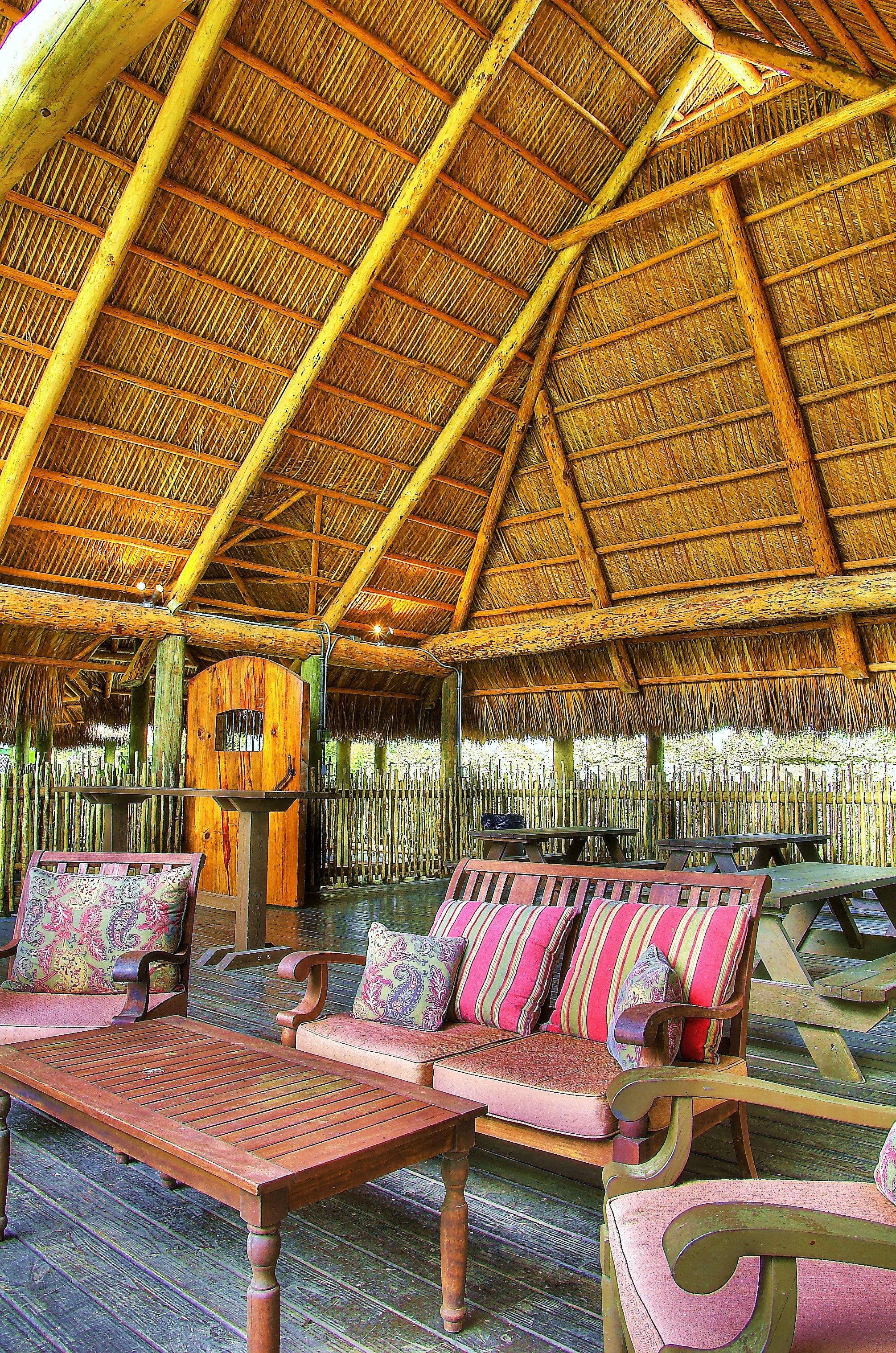 Tiki Huts Great seating Area