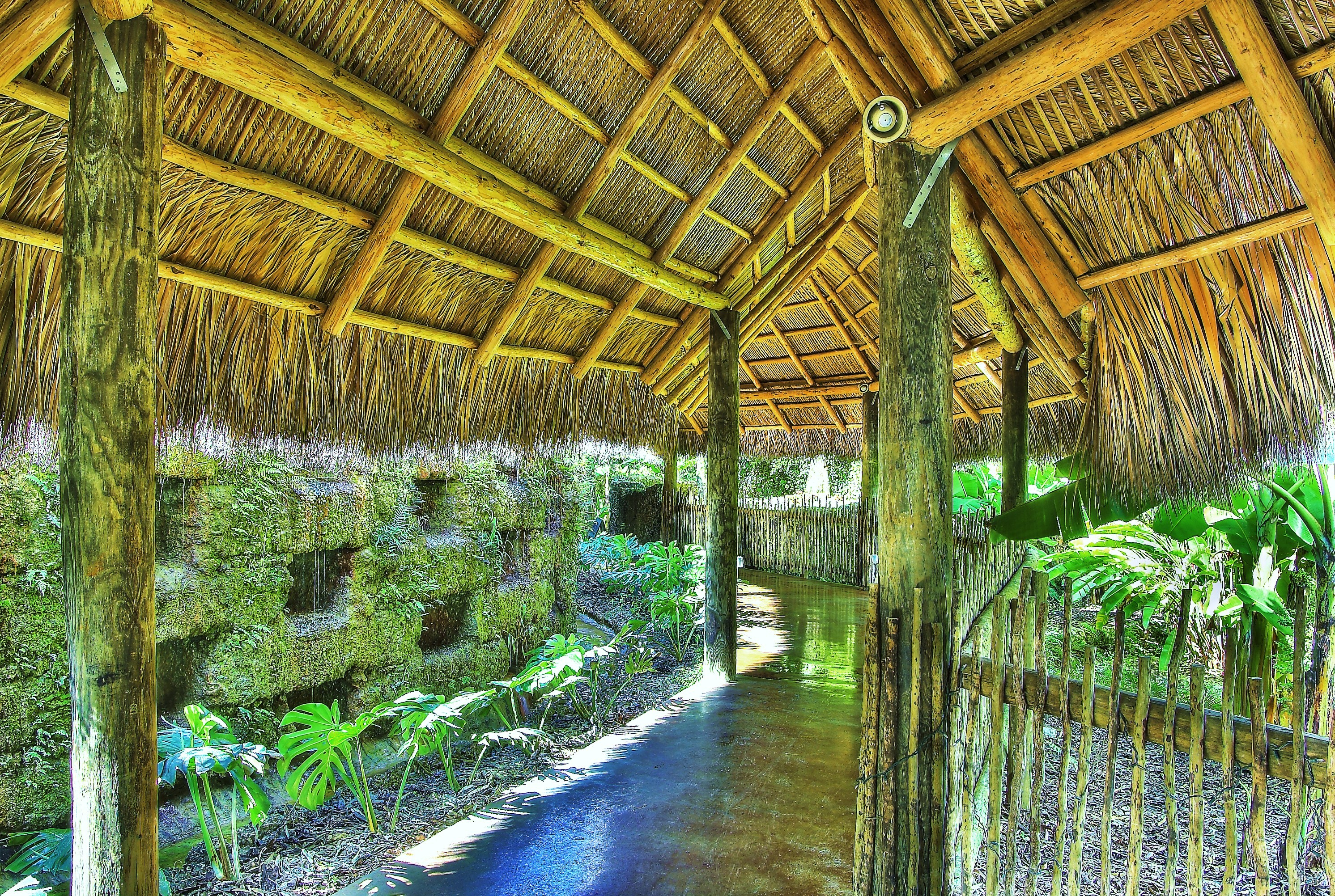 Tiki Huts Walkway
