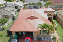 Red Standing Seam Roof 5V