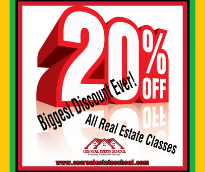 20%Off Sitewide!! Everything is on Sale. Get Your Real Estate License!!!