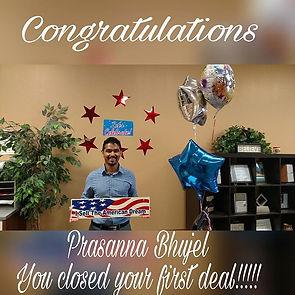 Congratulations Prasanna Bhujel on Selli