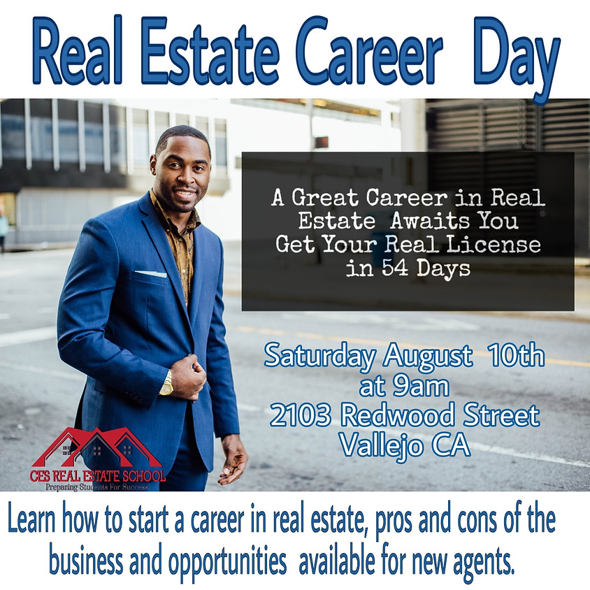 Real Estate Career Day Saturday Aug 10th