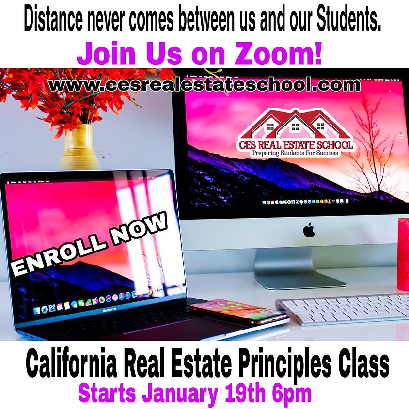 California Real Estate Principles Class
