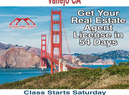 California Real Estate Agent License Class Vallejo CA