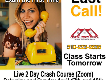 Urgent Last Day to Register for Tomorrow's Crash Course