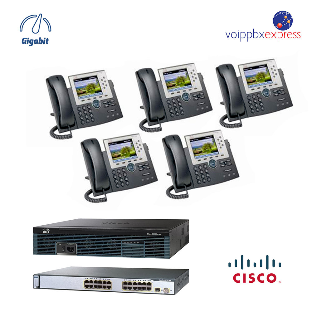 The 5 Color - Five Executive Color IP Phone System - with GUI and All  Gigabit
