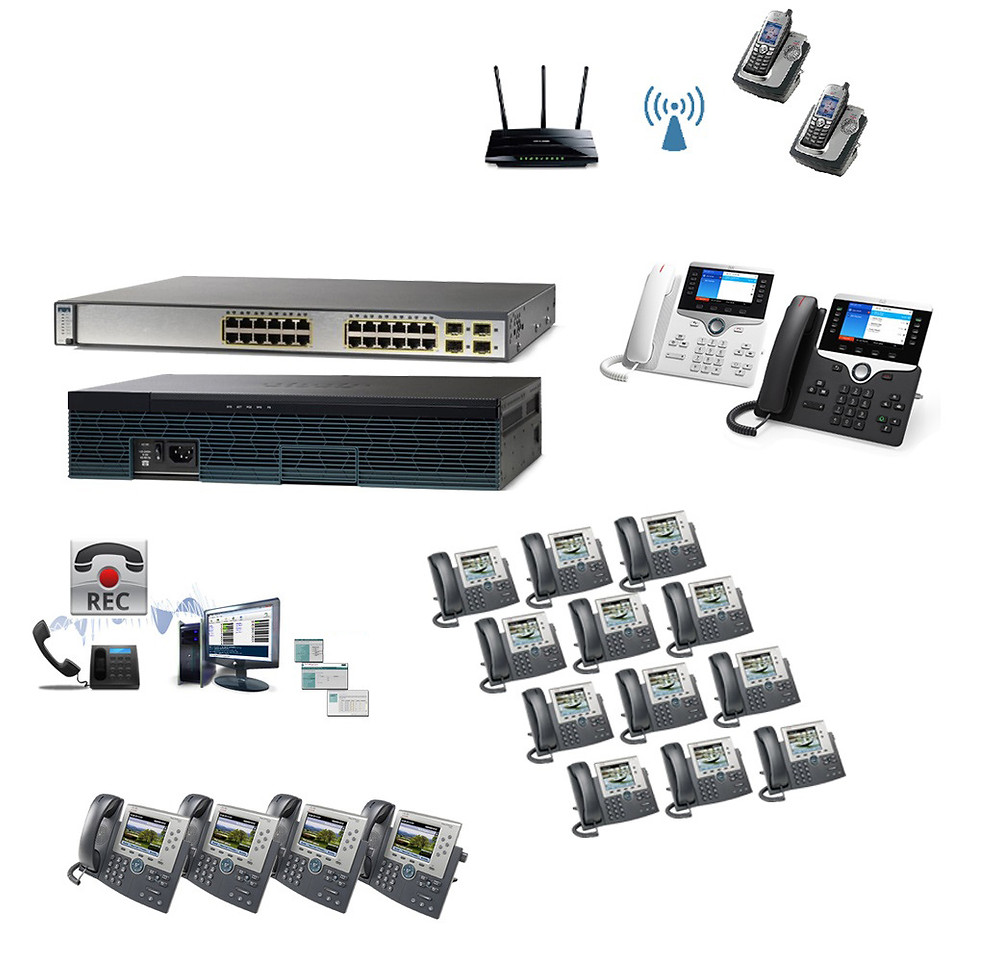 The 20 Premium - Cisco IP PBX Phone System with 8800 Phones, Recorder & Wireless