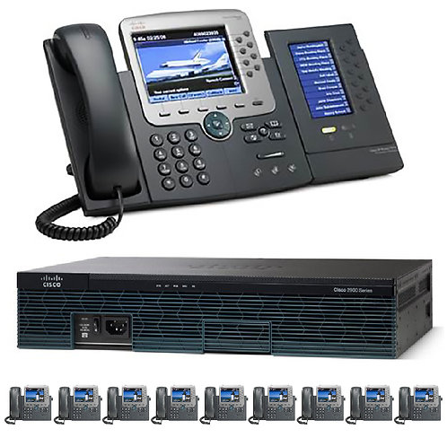 The 10 Office - Ten Gigabit Color PBX Telephone System - SIP/ Analog / ISDN PRI