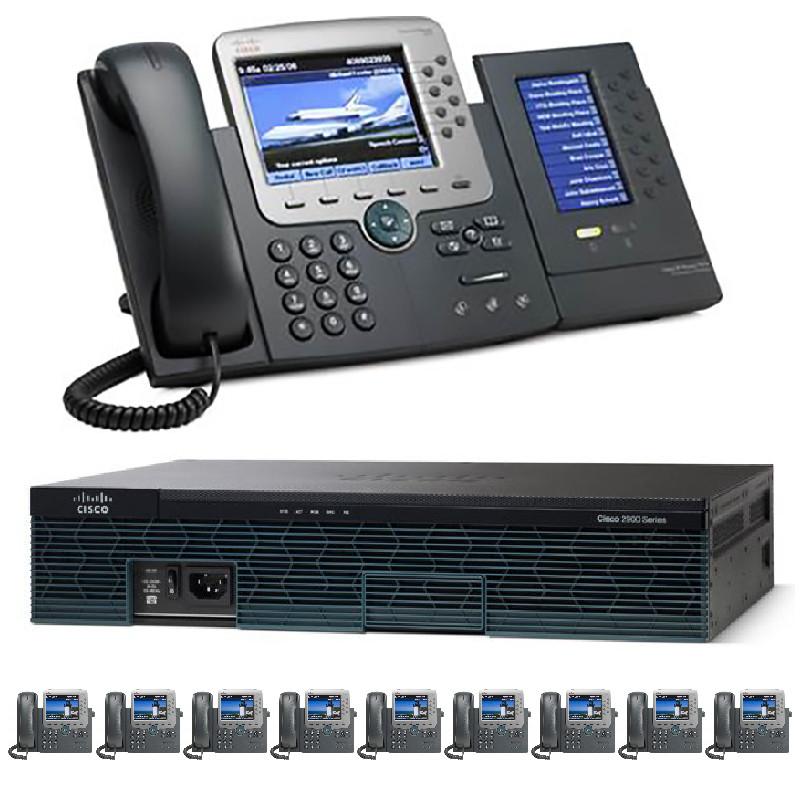 The 10 Office - Ten Gigabit Color PBX Telephone System - SIP/ Analog / ISDN PRI