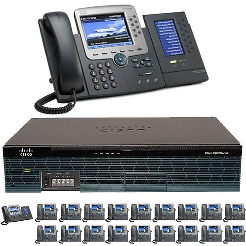 The 20 Office - Ten Gigabit Color PBX Telephone System - SIP/ Analog / ISDN PRI