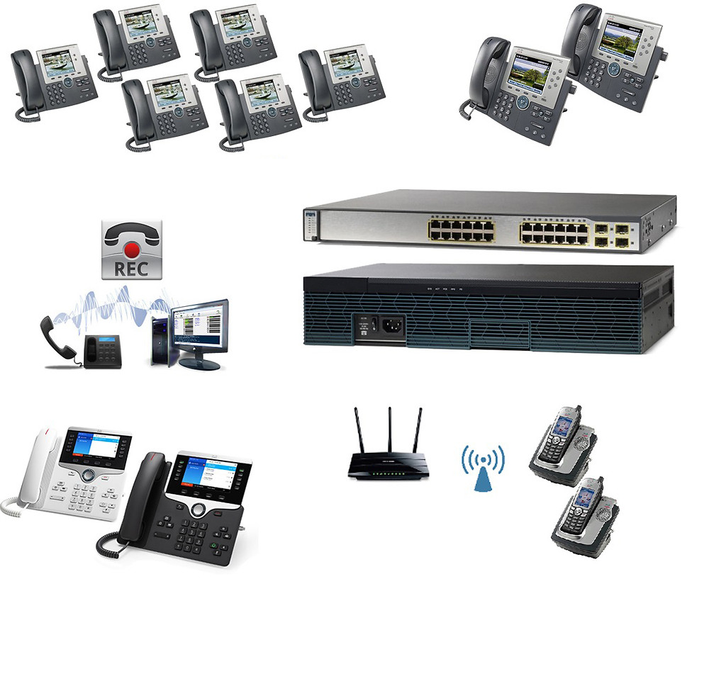 The 12 Premium - Cisco IP PBX Phone System with 8800 Phones, Recorder & Wireless