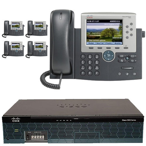 The 5 Enhanced - Five Enhanced Color IP Phone System - with GUI and All Gigabit