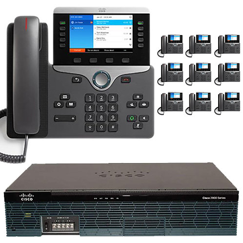 The 10 Executive  - Cisco IP PBX Phone System with New Cisco 8800 Color Phones