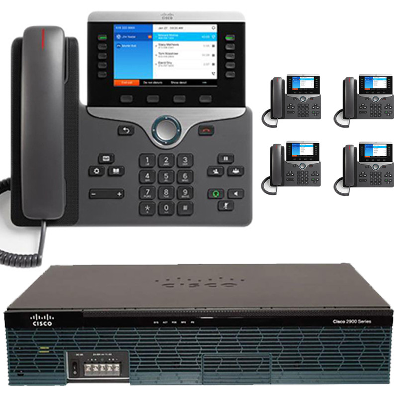 The 5 Executive - Cisco IP PBX Phone System with New Cisco 8800 Color Phones