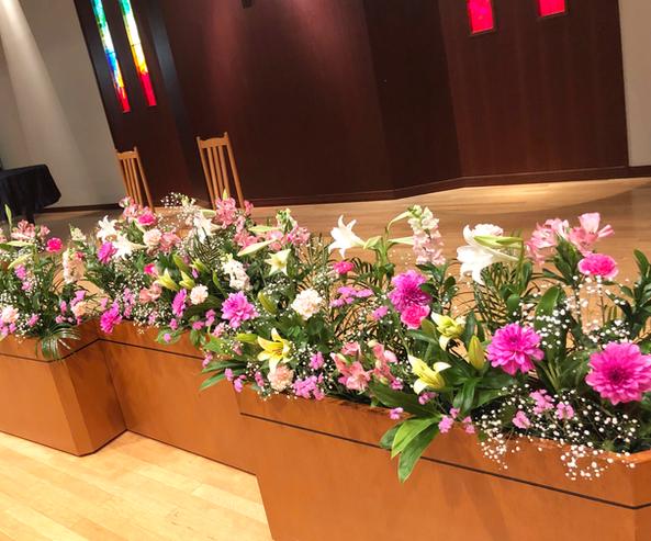ステージ装花