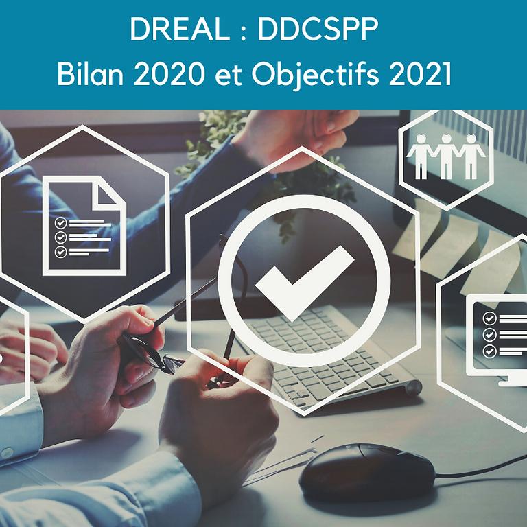 Réunion DREAL DDCSPP : bilan 2020 et objectifs 2021