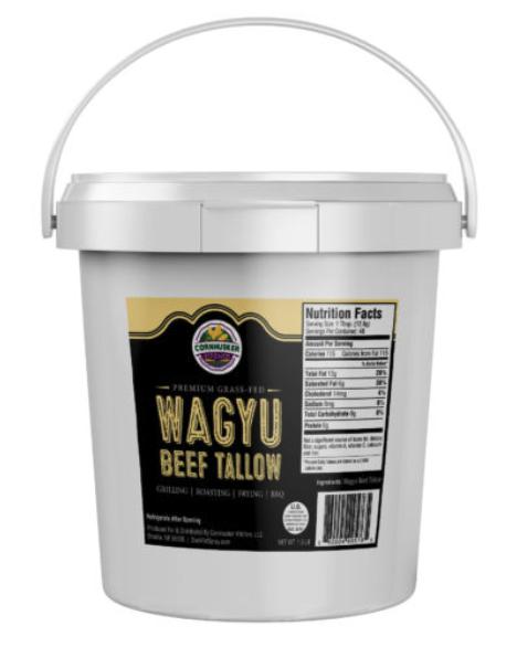 Premium Rendered Wagyu Beef Tallow Tub (1.5lb)