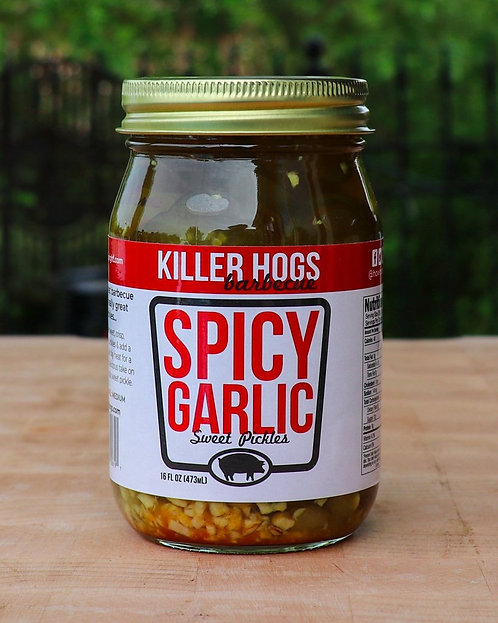 Killer Hogs Spicy Garlic Pickles