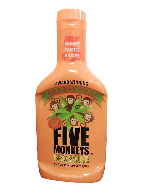 Five Monkeys Orange Chili BBQ Sauce