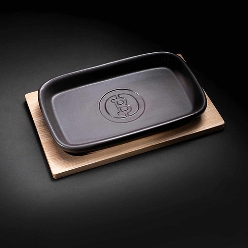 Ceramic Dish with Coaster