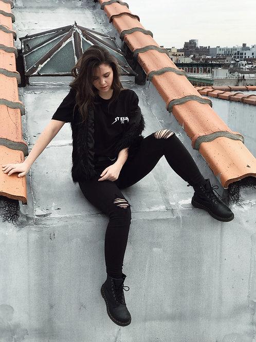 Black shirt (Metal font)
