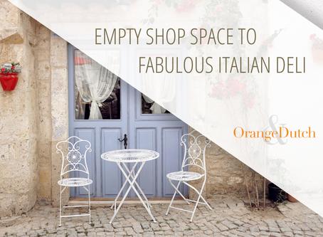 Transforming A Tiny Space Into A Fabulous Italian Deli