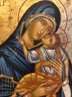 Maddona and child icon