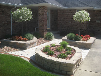 Crown Point, In, Rosetta, Outcropping, retaining, walls, rosetta landscape contractors, unilock wall, olde quarry wall, ornamental stone, western sunset stone, brassfield stone, riven stone,perennial designs, perennials, ornamental grasses, coral bells