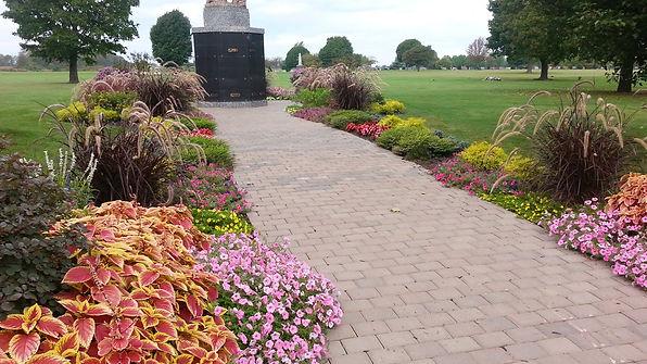 annual display, Calumet Cemetary, Adam's Landscaping, flowers, 3-D Design