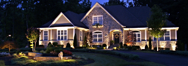 Your outdoor lighting is custom designed to fit the needs of your home your landscape and your lifestyle during your free design consultation