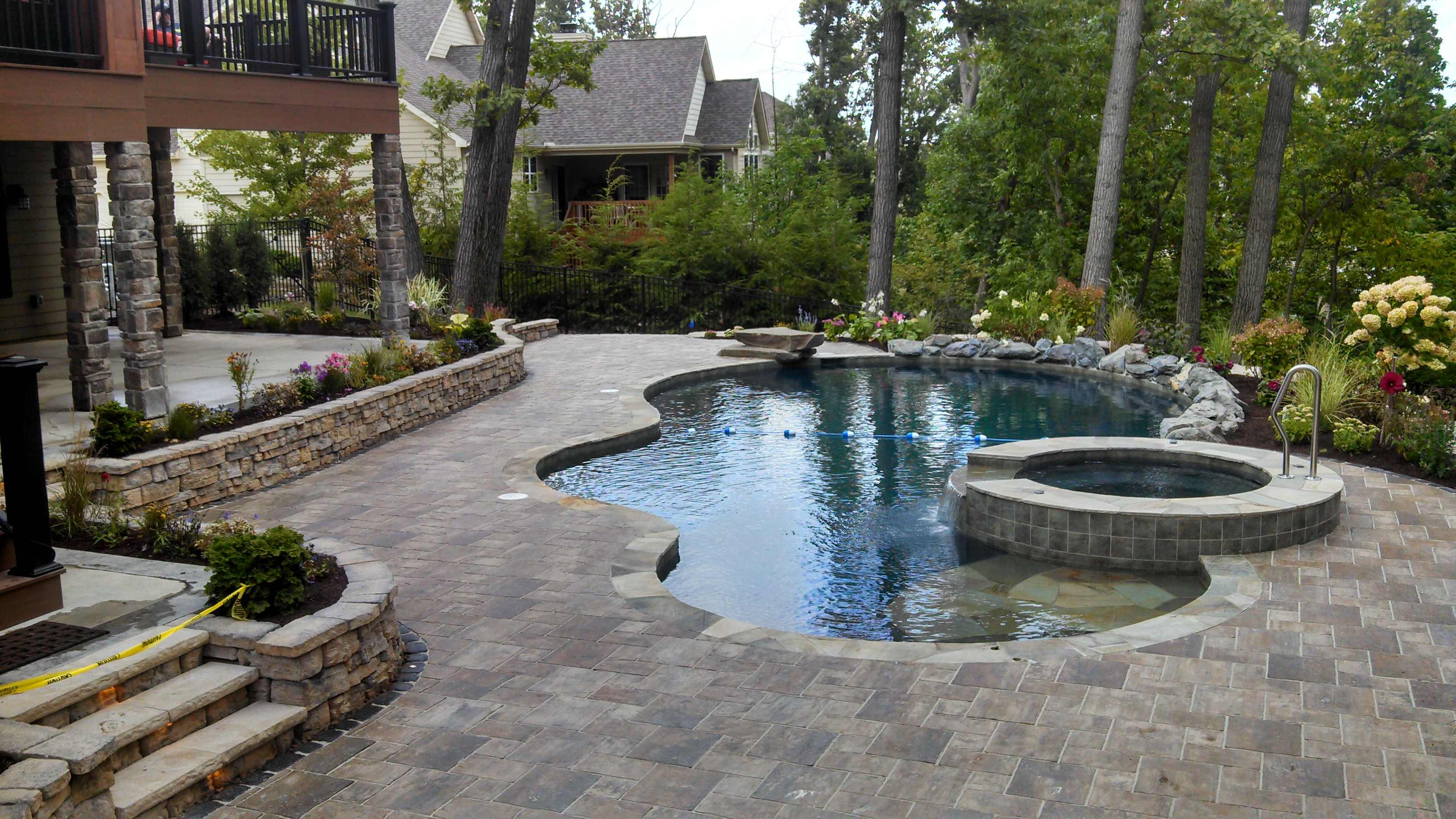 Permeable Brick Paver Pool Patio