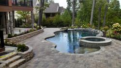 Permeable Brick Paver Pool Patio