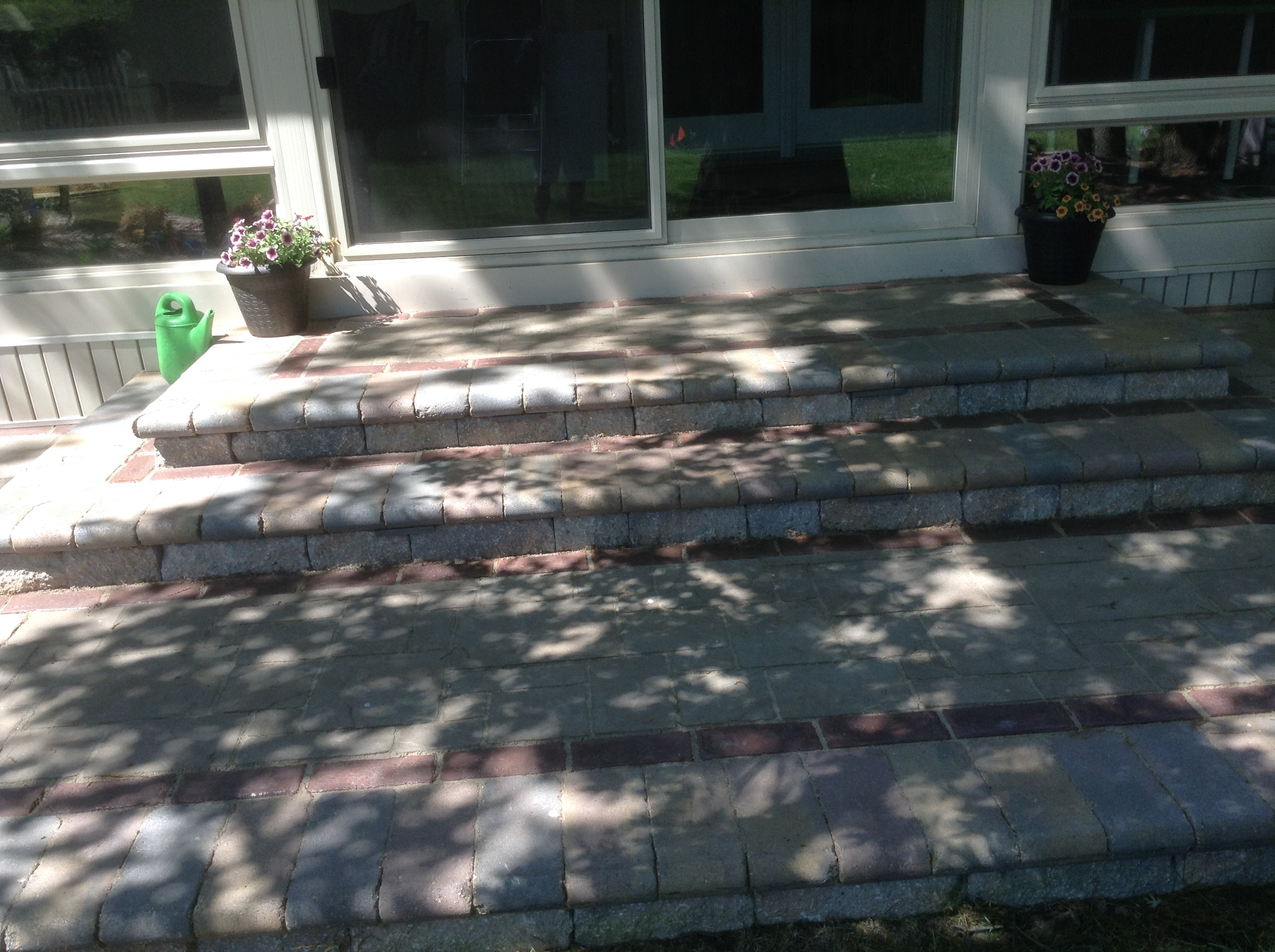 BACK STEPS WITH PATIO