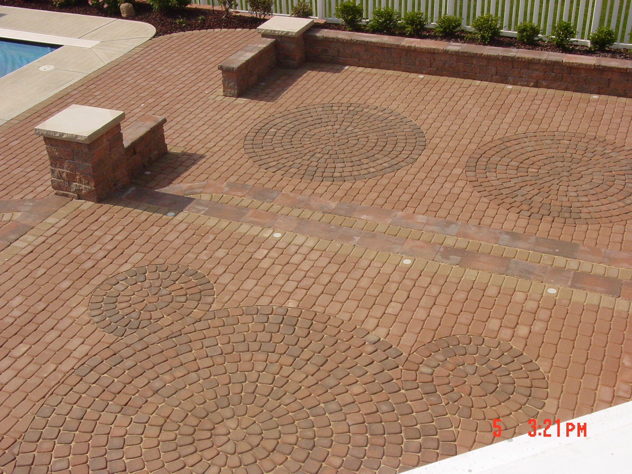 Brick Pavers with Patterns