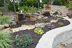 Crown Point, IN, water, feature, water, fall, water pond, pond installation,