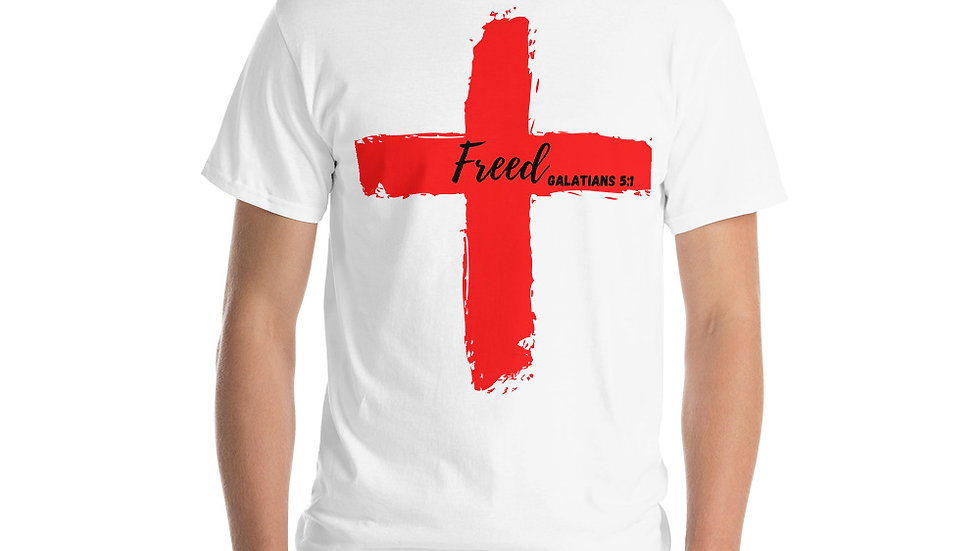 Because of the Cross - Freed - Men's T-Shirt