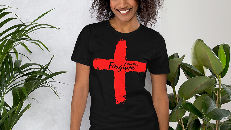 Because of the Cross - Forgiven - Women's T-Shirt