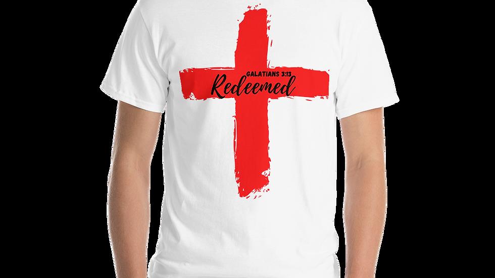 Because of the Cross - Redeemed Men's T-Shirt