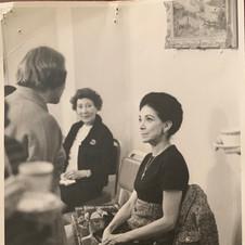 1969 -  Dorothy Coleborn having tea with Margot Fonteyn