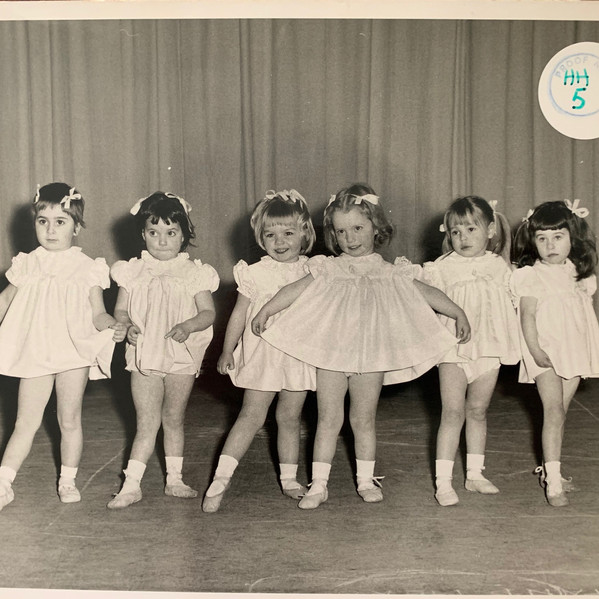 Annette Hall (3rd from the left) dancing on the Pavillion Stage aged 3.