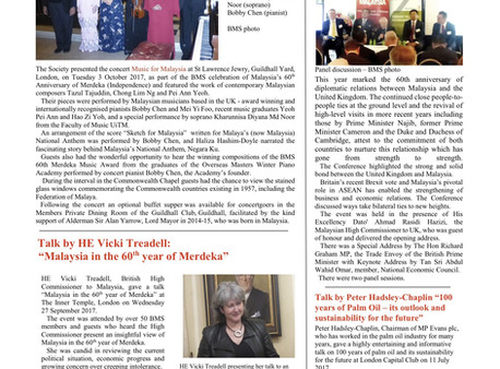 The British Malaysian Society (BMS): Newsletter - Autumn 2017
