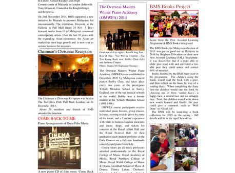 The British Malaysian Society (BMS): Newsletter - Winter 2014/2015 - 31st January 2015