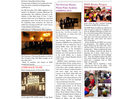 The British Malaysian Society (BMS): Newsletter - Winter 2014/2015 - 31st January 2015