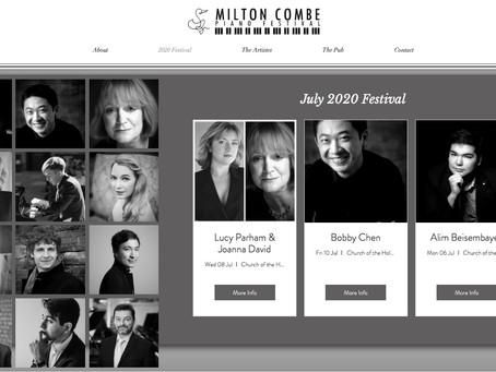 Solo recital at Milton Combe Piano Festival