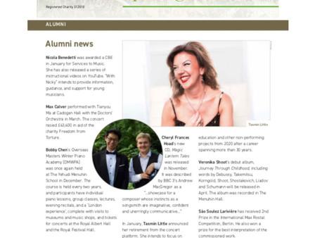 Yehudi Menuhin School: Newsletter 72 - Spring 2019 (page 12, bottom left)
