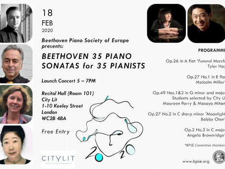 'Launch Concert' - Beethoven 35 Piano Sonatas for 35 Pianists (Beethoven Piano Society of Europe)