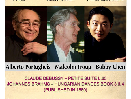 Four Hands Piano Recital, with Alberto Portugheis - in honour of the distinguished Malcolm Troup